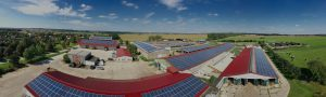 Drone Picture of PV plant in Germany