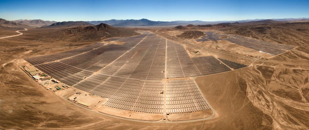 Aerial picture of utility scale PV power plant