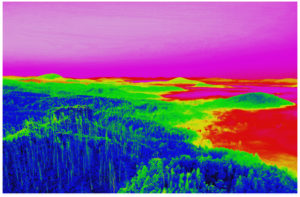 solar drone shot of a potential pv plant within the framework of a thermographic inspection