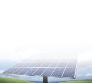 Solar modules on a field ready to be inspected by greentech for a high frequency analysis